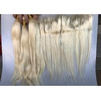 Buy cheap Peruvian Human Hair Weave Virgin Remy Human Hair Extensions 613 Blonde Straihgt from wholesalers
