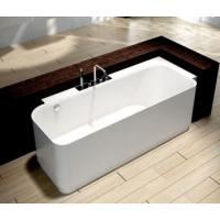 Buy cheap 2 people Artificial Stone Freestanding Soaking Bathtub from wholesalers