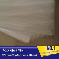 Wholesale 100lpi 0.58mm PET lenticular sheet  lens plastic film lenticular printing sheet lenticular sheet importer in usa from china suppliers