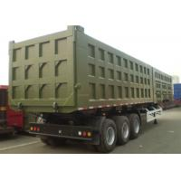 Wholesale Hydraulic Tipper Dump Semi Trailer With Two Square Box For Different Cargo from china suppliers
