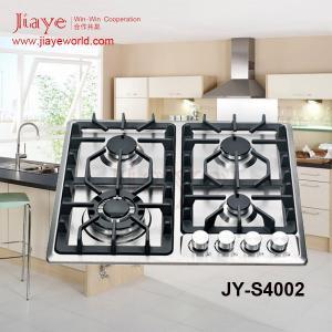 China 4 burners 0.7mmt ss panel Cast iron burner gas hobs JY-S4002 on sale