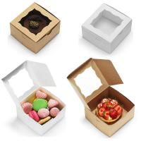 Wholesale Bakery Cake Take Away Box , Food Packaging Boxes With Clear Viewing Window from china suppliers