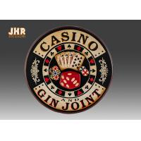 Wholesale Casino Wall Decor Antique Wooden Wall Signs Decorative Wall Plaques Pub Sign from china suppliers