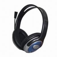 Wholesale Computer Headphone with Microphone, 20 to 20,000Hz Frequency Response and 40mm Driver Unit from china suppliers