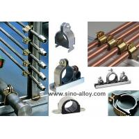 China Cushion clamps, galvanized steel cushion clamps with rubber inside on sale