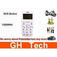 Wholesale Quad Band 1200MAh Vehicle Tracking System , 1.7'' Screen Personal GPS Phone Tracker from china suppliers