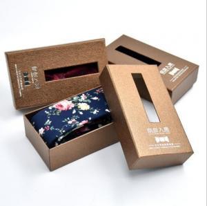 Custom Printed Luxury Paper Packaging Necktie Gift Box With Window