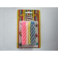 China Mixed Color Spiral Birthday Candles Swirl Pattern 0.75×8.5 cm for Birthday Party wholesale