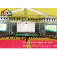 Wholesale Square Spigot Aluminum Stage Truss , Theatre Lighting StandsDurable Structure from china suppliers
