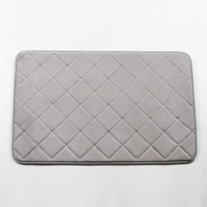 Wholesale PVC Backing Polyester Microplush Memory Foam Bath Mat Super Soft from china suppliers