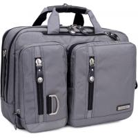 "Wholesale STB Gussi Nylon Multi-Functional Laptop Shoulder Messenger Briefcase Bag Converted To Backpack-15.6"" grey color from china suppliers"