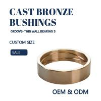 Wholesale Customzied Groove Bronze Gleitlager Thin Wall  Sleeve & Flange For Excavators from china suppliers