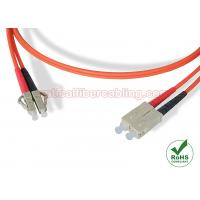 CATV Networks Multimode Duplex Fiber Patch Cables LC - SC With Red / Black Boot