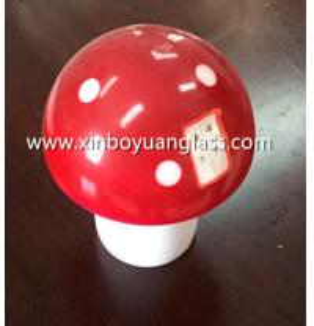 China Deco red Glass Mushroom Lamp Shade wholesale