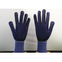 Wholesale Navy Blue Insulated Work Gloves , Nitrile Dipped Work Gloves Flexible Tactility from china suppliers