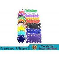 Wholesale American Custom Made Casino Poker Chips With Dice 3.3mm Thickness from china suppliers