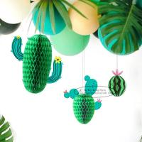 Wholesale New Cactus Watermelons Shaped Paper Honeycomb Balls Tissue Paper Decorations from china suppliers