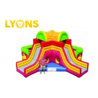 Wholesale Funny Giant Rainbow Inflatable Bouncer Combo for Children / Castle Bounce House With Two Slides from china suppliers