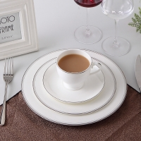 "Buy cheap Exquisite 10"" 25.8x1.8cm Gold Rim Bone China Dinnerware Set Cup from wholesalers"