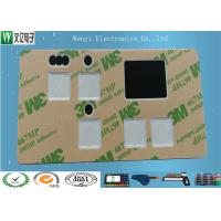Quality Gray Window Square Pillow Embossing Membrane Switch Overlay With 3M 467 for sale