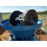 Wholesale Stone Grinding Cast Iron Gold Wet Pan Mill from china suppliers