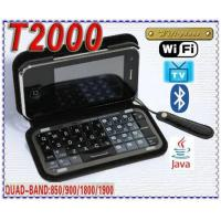 Quality T2000 TV Java WiFi Quadband Unlocked Cellphone Qwerty Keyboard for sale