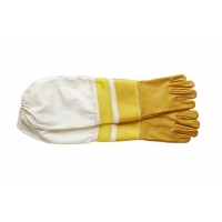 Wholesale #24,  Goat skin bee glove + leather wrist protector + Half  Ventilated +canvas cuff from china suppliers