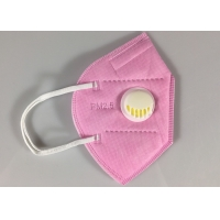 Wholesale Disposable GB2626-2006 KN95 Earloop Face Mask With Valve In Pink from china suppliers
