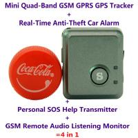 V8S Mini GPS Tracker+Anti-Burglar Alarm+Personal SOS Help Alarm Transmitter+Spy GSM Audio Listening Transmitter Bug