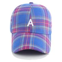Buy cheap Six Panel Promotional Products Caps Plaid Baseball Hat 100% Cotton Material from wholesalers