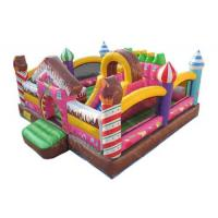 China Customized Inflatable Candy Kids Blow Up House / Colorful Bounce House Combo on sale
