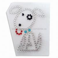 Wholesale Crystal Car Sticker in Animal Shape, Suitable for Window Decoration from china suppliers