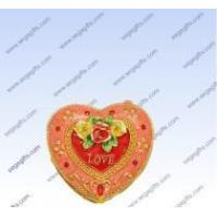 Wholesale Pewter Heart shape jewelry box from china suppliers