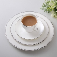 """Wholesale Exquisite 10"""" 25.8x1.8cm Gold Rim Bone China Dinnerware Set Cup from china suppliers"""