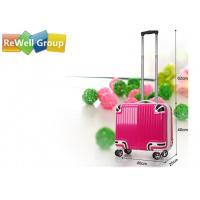 Wholesale 16 Inches Square Luggage Trolley Bags Stripe Boarding Box Rod Universal Wheel Suitcases from china suppliers