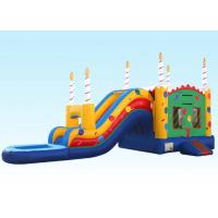 Wholesale Birthday Cake Water Inflatable Bouncer Combo With Logo Printing from china suppliers