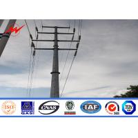 Wholesale Transmission Line Hot Rolled Coil Steel Power Pole 33kv 10m Electric Utility Poles from china suppliers