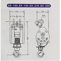 Portable 80kg - 300kg Mini Electric Wire Rope Hoist For Warehouse ...