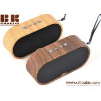 Buy cheap Hot sale mini portable stereo sub woofer wireless wood grain speaker from wholesalers