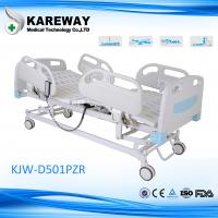 Icu Room White Hospital Patient Bed 5 Inch Caster Advanced Medical Actuators