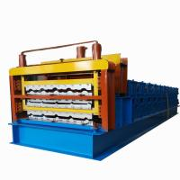 China Three Layer Corrugated Roof Tile Roll Forming Machine Roof Panel Roll Forming Machine on sale