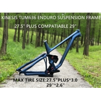 China 27.5er Plus 29er Enduro Suspension Mountain Bike Frame Without Shock 148*12mm Thru-axle  Boost  With Headset Seat Clamp on sale
