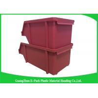 Wholesale 20L Shelving Industrial Plastic Totes , Hardware Storage Containers Space Saving from china suppliers