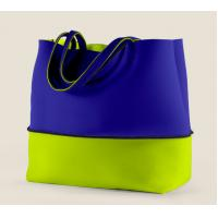 Wholesale fashionable Big Neoprene combinecolored single-shoulder bag, summer beach traveling bag from china suppliers