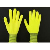 Wholesale 13G Yellow Latex Coated Gloves High Extension Elastic Knitting Customized Size from china suppliers