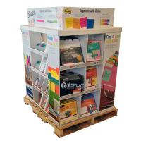 China Portable Large Corrugated Cardboard Pallet Display Shelf For Stationery wholesale
