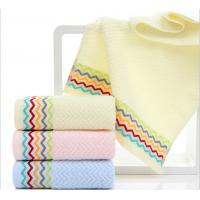 Wholesale Best luxury 100 percent cotton 390GSM face Jacquard striped towels from china suppliers