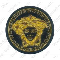 China gold circle wings bullion wire police uniform badges for clothes