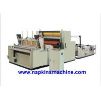 China Full Automatic Paper Roll Rewinding Machine For Sanitary Napkin / Hankie wholesale
