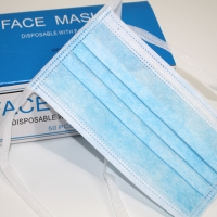 Wholesale Disposable String tie-on on the back 3ply protective surgical non woven face mask tie on 3-ply face mask from china suppliers